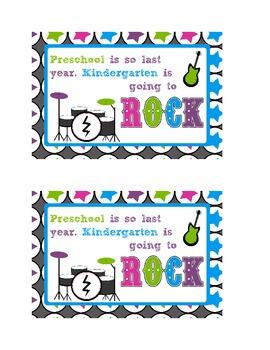 Welcome Rock Star Postcard-Kindergarten