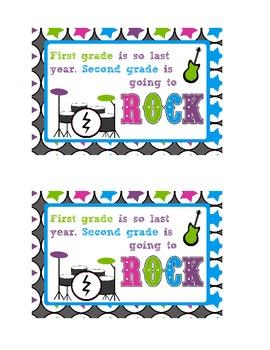 Welcome Rock Star Postcard-Second Grade