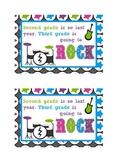 Welcome Rock Star Postcard-Third Grade