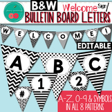 Black and White Bulletin Board Letters