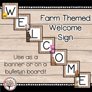 Welcome Sign / Banner :  Farm Themed