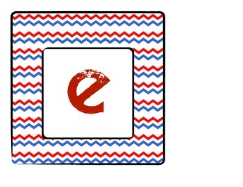 Classroom Welcome Sign - Red, White & Blue