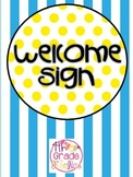 Welcome Sign - Beach Theme