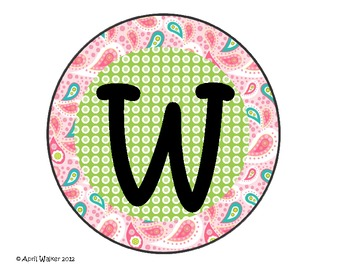 Welcome Sign - Bright Paisley and Dots Patterns