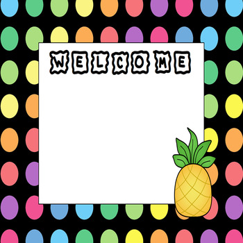 Welcome Sign {Bright Polka Dots}