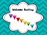 Welcome Sign Bunting