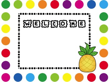Welcome Sign {Candyland}