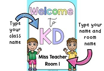 Welcome Sign EDITABLE
