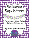 Welcome Sign  (Freebie)