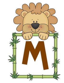 Welcome Sign - Giraffe, lion, monkey Jungle