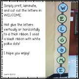 Welcome Sign - (Green and Blue Zebra Print)