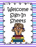 Welcome Sign In Sheet