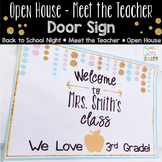 Open House Welcome Sign