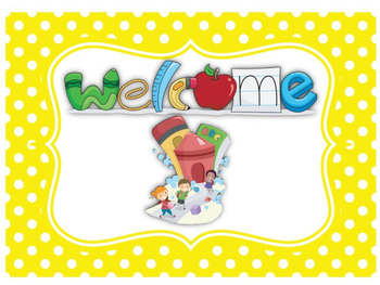 Welcome Sign-Polka Dot Theme