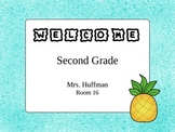Welcome Sign {Turquoise}