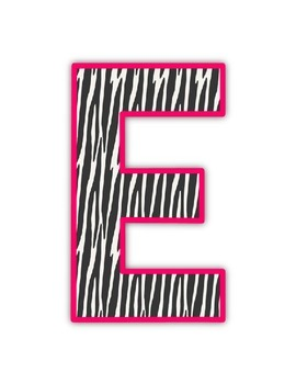 Welcome Sign: Zebra Print
