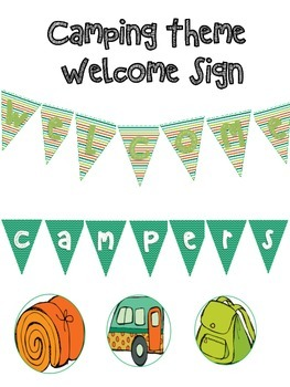 Welcome Sign for Camping Theme