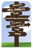 """Welcome Sign for """"Rustic Themed"""" Classroom"""