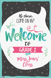 Welcome Signs in Large & Small (Charcoal) by Think BIG