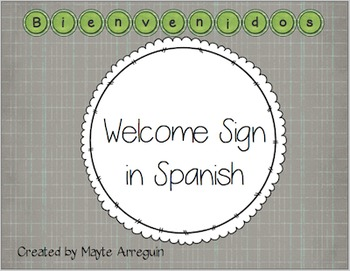 Welcome Sign in Spanish