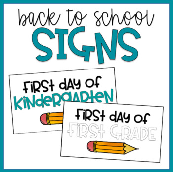 Back to School Welcome Signs