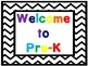 Welcome Signs Black Chevron Free