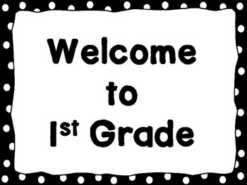 Welcome Signs Black Dots Free