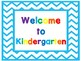 Welcome Signs Blue Chevron