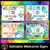 Welcome Signs EDITABLE