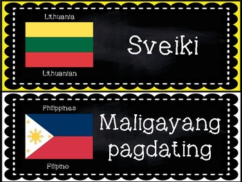 Welcome Signs - In Different Languages Set 2