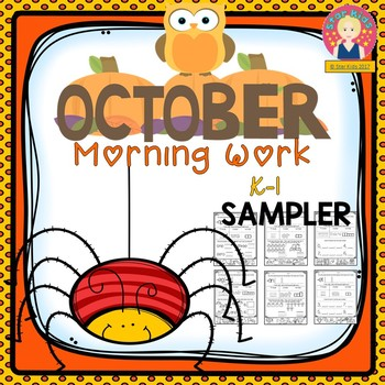 October Morning Work Sampler for Kindergarten and First Grade