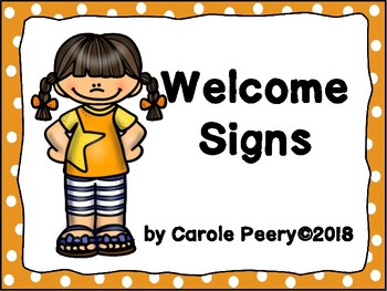 Welcome Signs Orange Dots