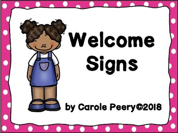 Welcome Signs Pink Dots