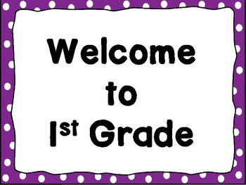 Welcome Signs Purple Dots