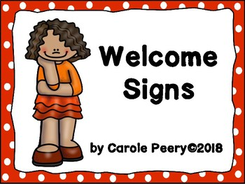 Welcome Signs Red Dots