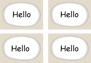 Welcome Signs and Editable Name Tag Labels - Natural Simple