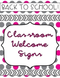 Welcome Signs for Back to School