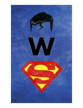 Welcome Signs with Superhero Outlines