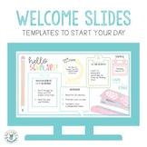 Welcome Slide Templates (Pastel School Supplies Theme)