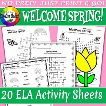 Welcome Spring! Activity Sheets - No Prep!