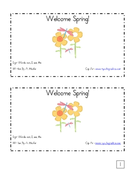 Welcome Spring Emergent Reader