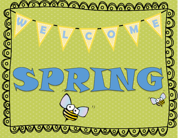 Welcome Spring Poster Kindness activity