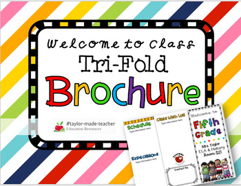 Welcome Students Tri-fold Brochure for Parents and Students {Editable}