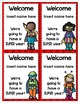 Welcome Superhero Pennant Banner and Tags for Back to School Editable
