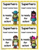 Welcome Superhero Pennant Banner and Tags for Back to Scho
