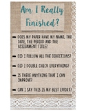 Welcome and Are You Finished Poster