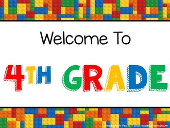 """Welcome To {All Grades} - """"Building Blocks"""" Theme- {{FREEBIE!!!}}"""