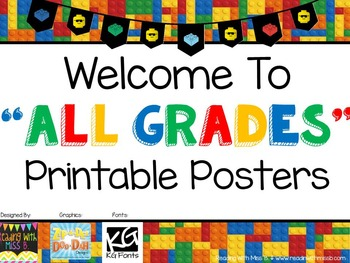 "Welcome To {All Grades} - ""Building Blocks"" Theme- {{FREEBIE!!!}}"