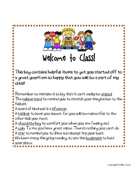 Welcome to Class! Bag Tags (First Day Gift Idea For Students)