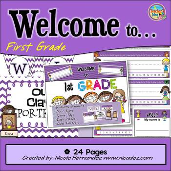 Banner - Welcome To First Grade and More!